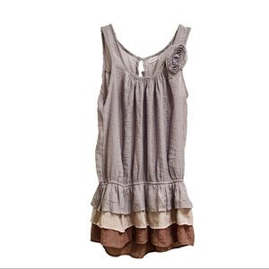 [Anthropologie] Layered Sleeveless Top Size M